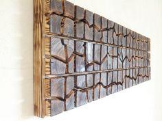 Unique Wooden Wall Art  Sound Wave  40 x 12 x by UniqueWoodArtwork