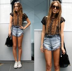 Errin Frayed Shorts (by Nicola Kirkbride) http://lookbook.nu/look/4399095-Errin-Frayed-Shorts