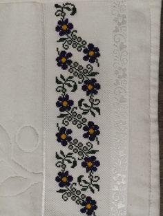 Cross Stitch Flowers, Cross Stitch Patterns, Palestinian Embroidery, Floral Tie, Chart, Crochet, Handmade, Bath Towels & Washcloths, Cross Stitch Rose