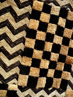 Africa | Old Kuba Raffia Detail - Shoowa - Kasai Velvet – DR Congo | Mid 20th century.