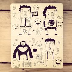 Moleskine Sketchbook Doodles http://www.alphawham.com