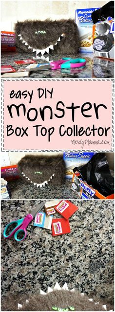 My gosh! This is so creative. What a great way to motivate kids to collect box tops for education. Love this monster box top collector. #ad #SchoolSupplied #CG