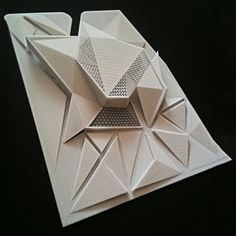 Arquitetura moderna - National Trust for Historic Preservation Architecture Pliage, Architecture Paramétrique, Triangular Architecture, Chinese Architecture, Gropius Bau, Design Innovation, Landscape Model, Arch Model, Modelos 3d