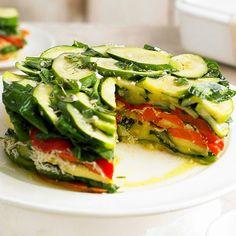 #healthy #food  delish!, stacked veggies, vegetarian recipes, healthy eats www.editglobal.com