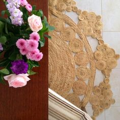 This natural and charming Jute Rug has been beautifully handwoven by Artisans from India, with the design reminiscent of warm summer days by the beachside or tropics. Made from 100% natural jute