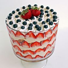 Patriotic Trifle Dessert and a Giveaway... | The Girl Who Ate Everything