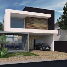 Casa Moderna De Amplio Territorio Imagenes Pinterest Case - Fachadas-minimalistas