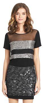 Kayla Square Crystal Embellished Tee In Black on shopstyle.com