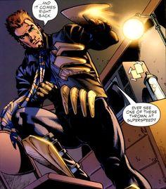Owen Mercer was the second Captain Boomerang and the son of the original Captain Boomerang, Digger Harkness. Dc Heroes, Comic Book Heroes, Comic Books, Comic Art, Comic Villains, Dc Comics Characters, Captain Boomerang, Comic Character, Yuyu Hakusho