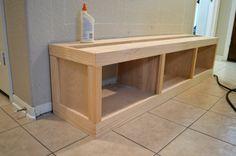 mudroom bench with storage Ikea Storage Cubes, Storage Ideas, Diy Bench With Storage, Cubby Storage, Diy Bench Seat, Mudroom Cubbies, Bench Mudroom, Cubby Bench, Diy Bank