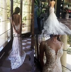 2018 Flowers Appliqued Dancing Wedding Dresses Sexy Mermaid Lace Wedding Gowns Detached Train Backless Sheer Neck Bridal Gowns Overskirt Evening Dress Mermaid Wedding Dress Country Wedding Dress Online with $169.15/Piece on Alegant_lady's Store   DHgate.com