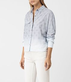 AllSaints New Arrivals:  Bella Jacquard Shirt