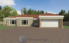 A 4 Bedrooms Tuscan styled house plans you can call home. This 4 Bedrooms Tuscan styled house design is perfect for your medium size family. House Plans For Sale, House Plan With Loft, House Plans With Photos, Garage House Plans, Family House Plans, Double Storey House Plans, Tuscan House Plans, House Plans South Africa, Beautiful House Plans