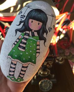 "482 Likes, 27 Comments - @mmoddakk on Instagram: ""gorjuss zoom #mmoddakk #gorjuss #gorjussgirl #santoro #tasboyama#paintedstones#paintedrocks…"""