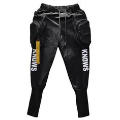 Hip Hop Joggers Cargo Harem Style Slim Men Pants with Big Pockets and Zippers - Men's style, accessories, mens fashion trends 2020 Mens Jogger Pants, Men Pants, Mens Sweatpants, Slim Fit Joggers, Hip Hop Fashion, Mens Fashion, Japanese Streetwear, Cyberpunk Fashion, Urban Outfits