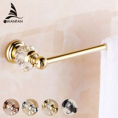 Brass & Crystal Golden Single Towel Bar,Towel Holder, Towel Rack, Bars Products,Bathroom Accessories Free Shipping HK-21 #Affiliate