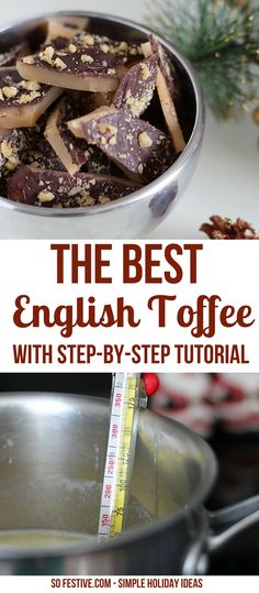The Best English Toffee Recipe -How to make English Toffee- Christmas Toffee