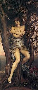Dryad by Evelyn De Morgan. Fairies were not a part of ancient greek mythology. Ancient greeks had nymphs, like dryads (tree nymphs) Greek Gods And Goddesses, Greek Mythology, Ancient Goddesses, Greek Mythical Creatures, Mythological Creatures, Types Of Nymphs, Pre Raphaelite Brotherhood, Pierre Auguste Renoir, Edouard Manet