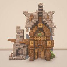 Minecraft Small House, Casa Medieval Minecraft, Cute Minecraft Houses, Minecraft Castle, Minecraft Room, Minecraft Plans, Minecraft House Designs, Amazing Minecraft, Minecraft Tutorial