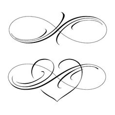 Tatto Ideas – Tattoo ideas and design world Infinity Tattoo Designs, Infinity Tattoos, Heart Tattoo Designs, Infinity Art, Tattoo Drawings, Body Art Tattoos, Small Tattoos, Herz Tattoo, I Tattoo