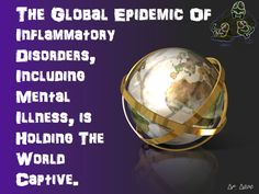 """The Global Epidemic of #Inflammatory #Diseases from #Dr, #Dave's #slideshare """"#Microbes for #Mental #Health"""""""