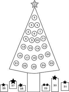 Christmas Tree Countdown Calendar - clubdeases.com