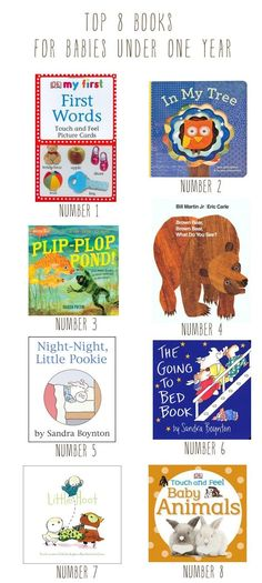 top 8 books for babies under 1 year - great first collection