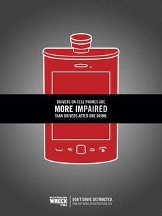Campaign Against Distracted Driving by Kristen Cork, via Behance