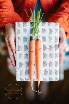 Vegetable Stamped Wrapping Paper