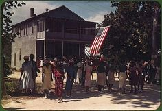 A Fourth of July celebration. St. Helena Island, South Carolina, 1939. Reproduction from color slide. Photo by Marion Post Wolcott.