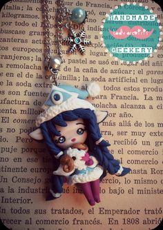 collar winter wonder Lulu (League of Legends)/ Winter wonder Lulu necklace de Ladyarcoiristienda en Etsy. Polymer clay / Fimo
