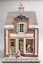 Bluette Meloney designs and creates dollhouse miniature scale rooms and scenes with faux finishes and other realistic effects and textures. Miniature Rooms, Miniature Crafts, Miniature Houses, Dolls House Shop, Doll Shop, Diy Doll Miniatures, Doll House Crafts, Fairy Houses, Doll Houses