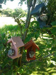 Mini voederhuisjes voor vogels en vlinders