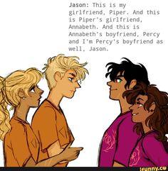 Jason Grace, Pipe McClean, Annabeth Chase, Percy Jackson