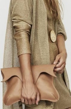 Love this nude clutch!