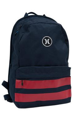 Hurley® Navy & Red Block Party Back Pack