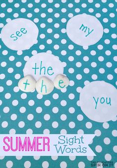 Summer Sight Word Game with Sea Shells for Kids