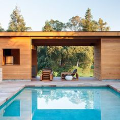 Pool House by Klopf Architecture