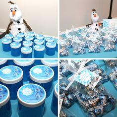 Frozen Party Favors: Frozen Glitter Slime & Olaf Hugs & Kisses