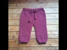 Tutoriel crochet : pantalon bébé / pantalon bebe a crochet facil