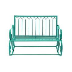 UMA Enterprises Great Outdoors All-Weather 49 in. Metal Rocking Bench | from hayneedle.com