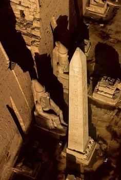 "Obelisk at Luxor, Egypt. One of two that flanked the entry pylons of the great temple of Ammon. The other being absconded with by Europeans in the 19th century and now resituated at the Place de Concord, Paris, France. Both were erected by Rameses II (the ""Great"") at their original site during the 19th Dynasty."
