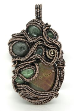 Wire wrapped pendants - Minerva Beads and Crafts - The Glastonbury Bead Shop