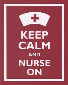 Keep Calm and Nurse On Graphic Wall Art by bluesblossom on Etsy, $12.00