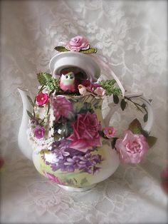 Altered Teapot,  Martica Designs