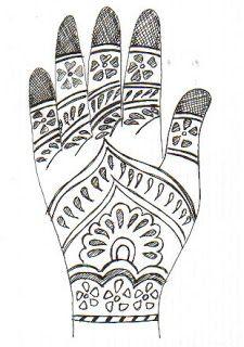 henna diseños mano faciles - Buscar con Google                                                                                                                                                     Más