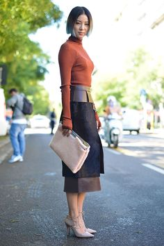 Irene Kim wearing the Jimmy Choo HOOPS pump at #MFW