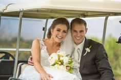 ♥ Angela + Adam ♥ #golfcoursewedding #brideandgroom #happycouple