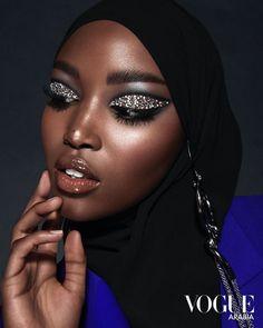 Fashion Editorial Makeup, High Fashion Makeup, Runway Makeup, Beauty Makeup, Makeup Art, Dark Skin Makeup, Face Makeup, Makeup Inspo, Makeup Inspiration