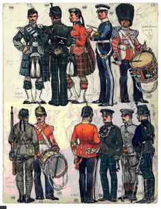 British Uniforms, 1912